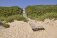 Лестница к кемпингу с пляжа